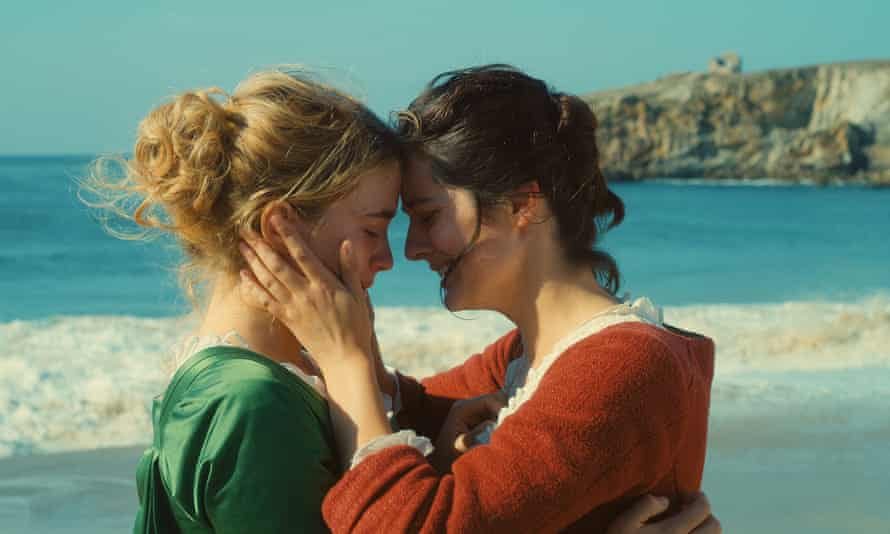 Adèle Haenel and Noémie Merlant in Portrait of a Lady on Fire.