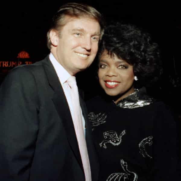 Winfrey with Donald Trump in 1988.