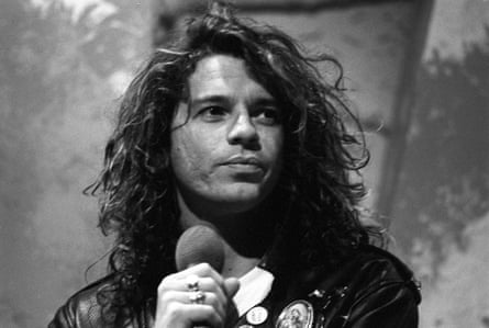 'The Roxy' TV Programme. - 1987Autopsy Micheal Hutchence Without prior permission from the copyright holder this image is only to be used to promote the above programme whilast airing on Channel 5 EDITORIAL USE ONLY / NO MERCHANDISING Mandatory Credit: Photo by ITV/REX (1221716bi) Michael Hutchence of INXS 'The Roxy' TV Programme. - 1987 Presented by David Kid Jensen and Kevin Sharkey, this was a music series based on the independent pop music chart, following on from the demise of the popular show The Tube. It featured the music chart as used on its sister programme, the radio show The Network Chart show. The Roxy was cancelled in 1988.