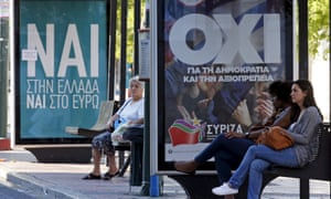 Yes and no posters in Greece