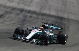 Hamilton sets another fastest lap.