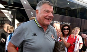 Sam Allardyce, with Sunderland at Hartlepool on Wednesday night, is set to be named England manager.