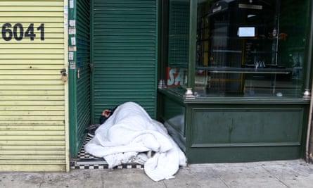 A person sleeping rough