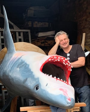 Jaimie Shorten, with one of his sharks