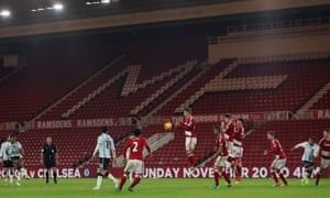 Not pictured: the 308 fans that turned up to see Middlesbrough take on Shrewsbury at the Riverside.