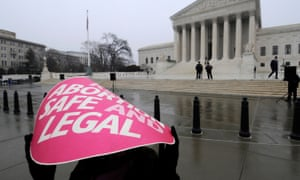 Protestors outside the US supreme court on the 39th anniversary of Roe v Wade.