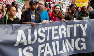 Demonstration against austerity cuts, London, October 2012.