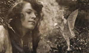 One of the pictures taken by Frances Griffiths of her cousin Elsie Wright in 1920