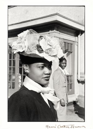 An unidentified woman on easter Sunday in Harlem, New York 1947