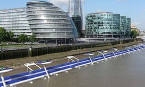 A computer mock-up of the Thames Deckway project.