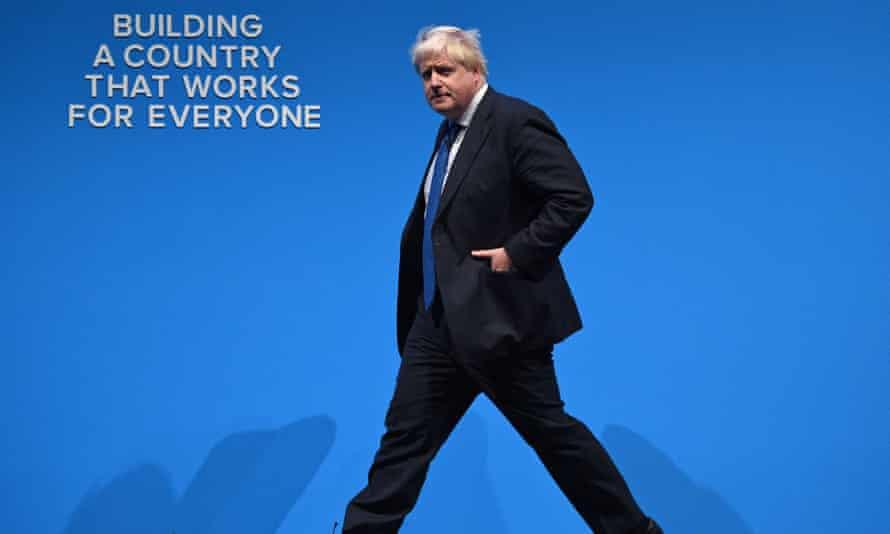Boris Johnson at party conference last year.