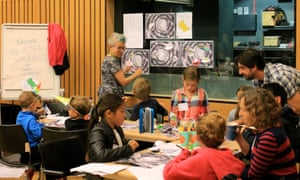 Exploring the Universe with Sally Kindberg at the Guardian cartoon and art family day