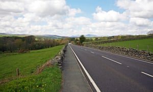 The A5, part of the old Watling Street, which runs through Snowdonia national park