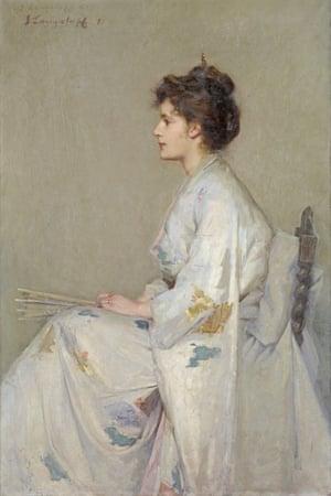 Lady in grey (1890) by John Longstaff