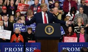 Donald Trump speaks to in Moon Township, Pennsylvania.