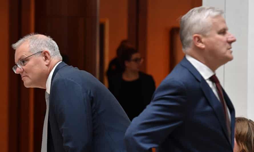 File photo of Australian prime minister Scott Morrison and deputy prime minister Michael McCormack