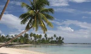 A beach on Samoa