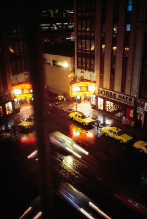 View from Dickson's apartment on 43rd Street, looking south on to the corner of 42nd Street and Eighth Avenue