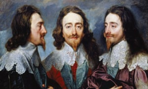 Triptych portrait of King Charles I by Sir Anthony Van Dyck.