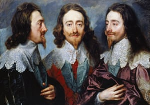 triple portrait in oils of king charles the first by anthony van dyck
