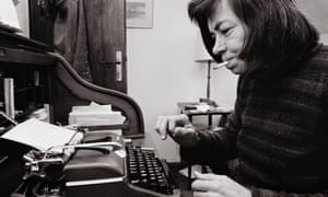 Patricia Highsmith at home in the village of Moncourt, near Fontainebleau.