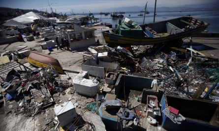 Several coastal towns in Chile, including Coquimbo, were flooded from tsunami waves set off by the recent earthquake.