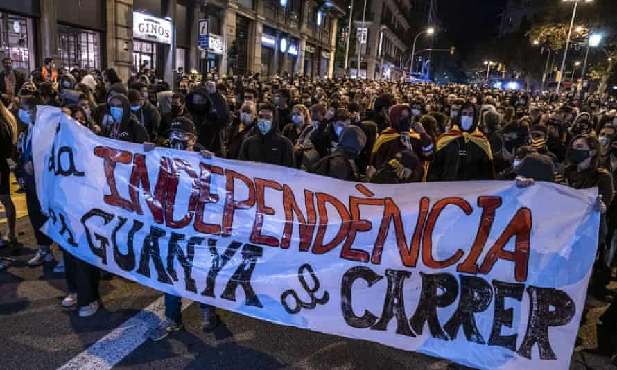 Pro-independence demonstrations in Barcelona in October
