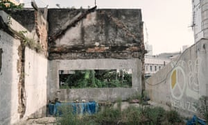 An abandoned building that was burned down during the May 1998 riot in the Chinatown of Glodok in West Jakarta, Indonesia.