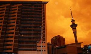 Smoke from Australian fires darkens the Auckland sky