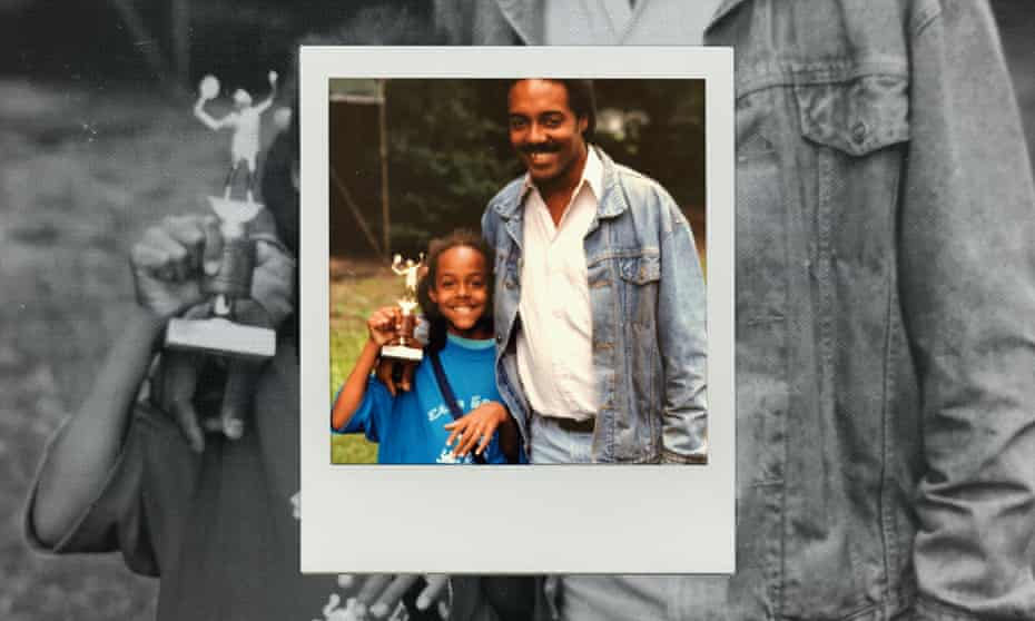 Lisa Lucas with her father.