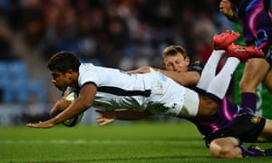 Wesley Fofana dives over for his side's third