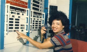 Christine Darden in the control room of Nasa Langley's Unitary Plan Wind Tunnel in 1975.