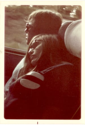 Daniel and Nina Libeskind on their cross-country road trip in US, 1969.