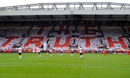 A mosaic by Liverpool fans before a home game in 2012.