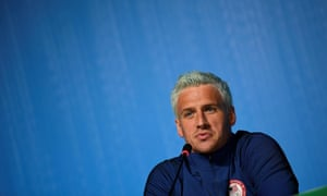 US swimmer Ryan Lochte holding a press conference in Rio de Janeiro, two days ahead of the opening ceremony of the Rio 2016 Olympic Games.