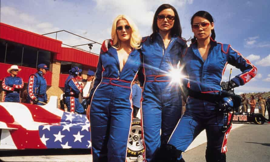 Heaven-sent dialogue ... Charlie's Angels, starring Drew Barrymore, Cameron Diaz and Lucy Liu, is a rare example of an action movie in which women get most of the lines.