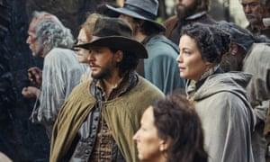 Kit Harington and Liv Tyler in the BBC's three-part drama Gunpowder.