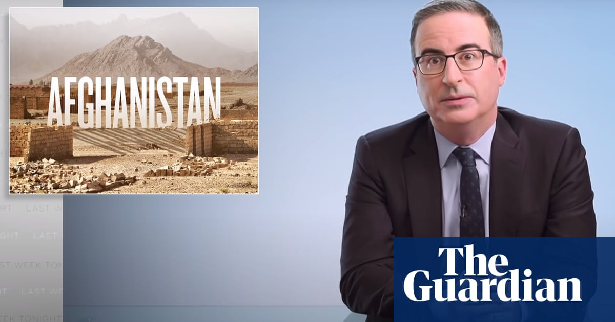 John Oliver: Afghanistan withdrawal is 'a stain on Biden's legacy'