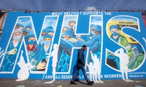 A mural in support of the NHS in east Belfast.