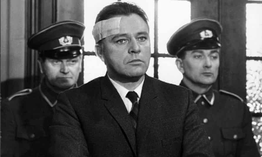 Richard Burton as Alec Leamas in the film version of The Spy Who Came in from the Cold (1965).