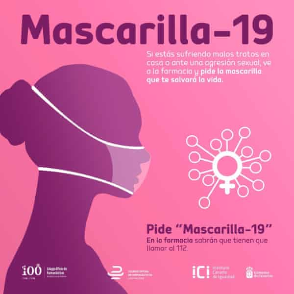 A scheme called Mascarilla-19 has been set up to allow women alert pharmacists to call for help on their behalf.