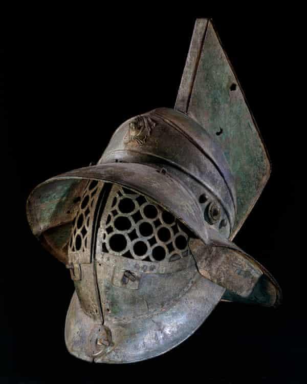 Bronze gladiator's helmet, Pompeii, 1st century AD.