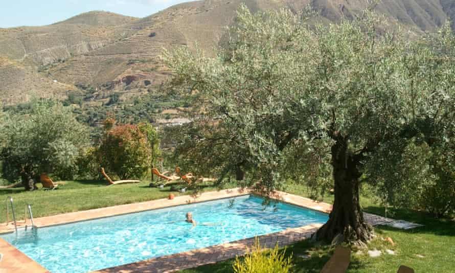 Swimming pool at La Almunia del Valle, Spain.