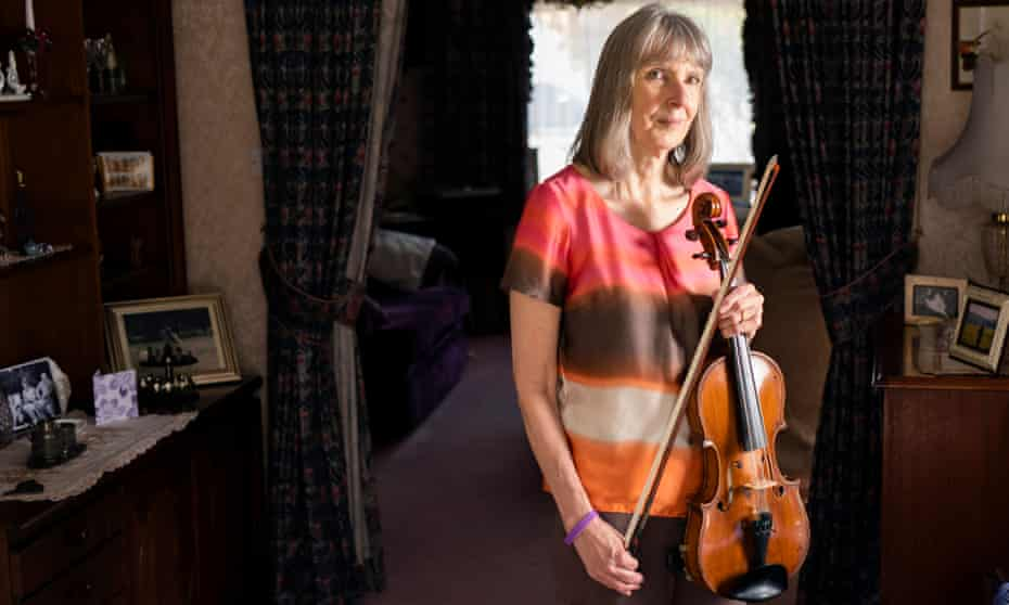 Cathy Perkins with her viola