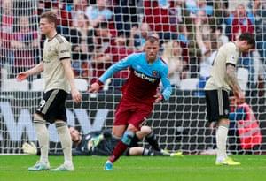 Yarmolenko celebrates scoring the opener for West Ham.
