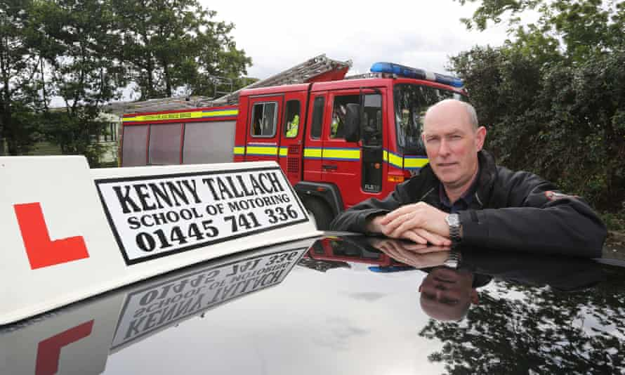 Driving instructor Kenny Tallach