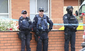 Police at Melbourne house