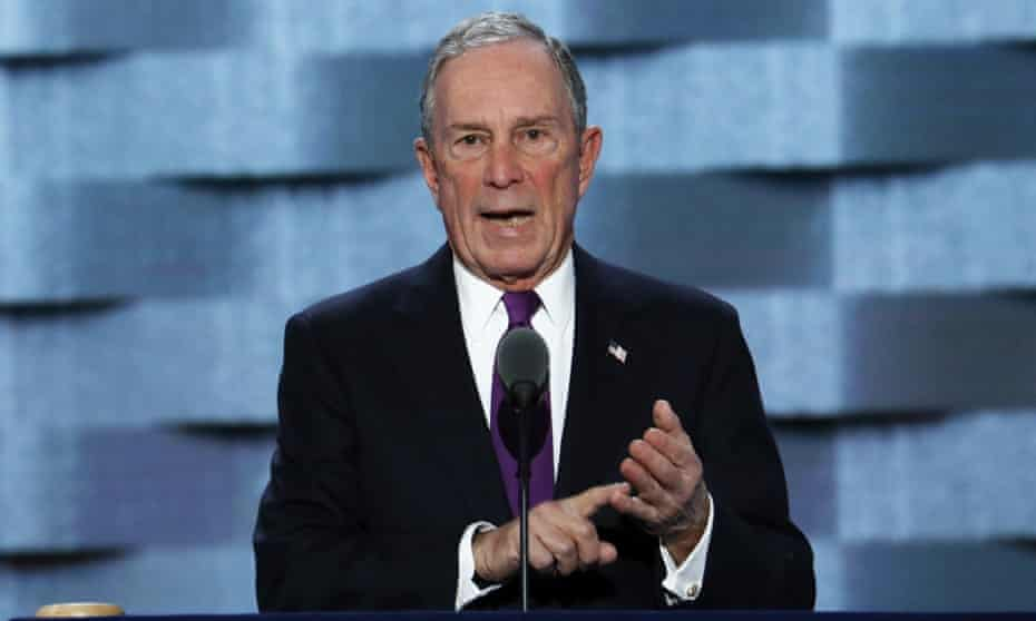 Michael Bloomberg speaks at the Democratic National Convention in Philadelphia last year.
