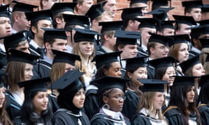 Rows of graduates