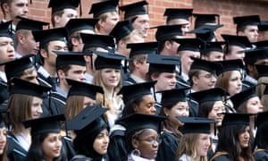 Rows of graduates at University of Birmingham.